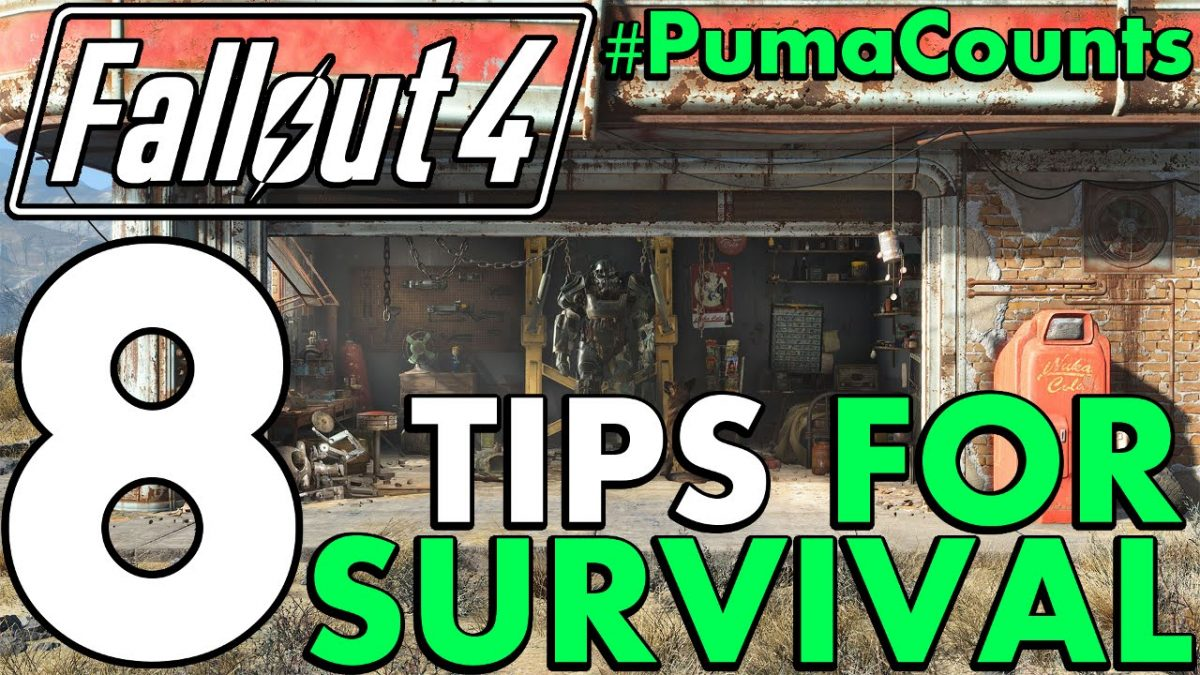 8 Tips, Tactics and Strategy for Fallout 4's Revamped Survival Mode #PumaCounts
